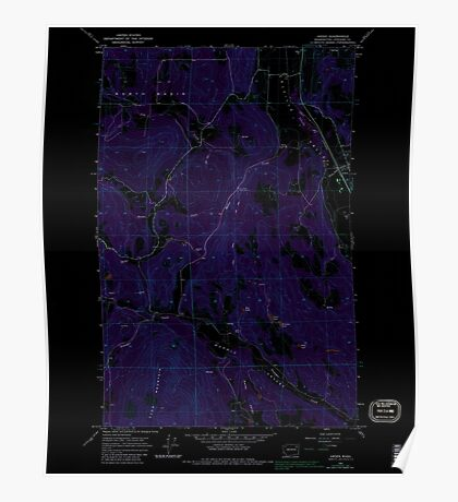 USGS Topo Map Washington State WA Arden 239842 1965 24000 Inverted Poster