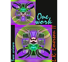 Commemorative Upside-Down Art Poster or Ambigram Art  Poster by Upside-Down Artist, L. R. Emerson II Photographic Print