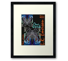"""One work, Two Views"" Commemorative Poster by L. R. Emerson II from the Upside-Down Drawing Art Movement; Upsidedownism, Topsy Turvy Art, Ambigram Art, or Masg Art  Framed Print"