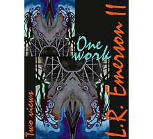 """One work, Two Views"" Commemorative Poster by L. R. Emerson II from the Upside-Down Drawing Art Movement; Upsidedownism, Topsy Turvy Art, Ambigram Art, or Masg Art  Photographic Print"