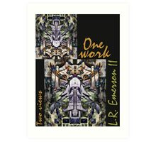 """""""One work, Two Views"""" Commemorative Poster by L. R. Emerson II from the Upside-Down Art Movement; Upsidedownism, Topsy Turvy Art, Ambigram Art, or Masg Art  Art Print"""