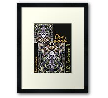 """One work, Two Views"" Commemorative Poster by L. R. Emerson II from the Upside-Down Art Movement; Upsidedownism, Topsy Turvy Art, Ambigram Art, or Masg Art  Framed Print"