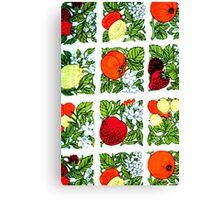 Fifties Fruit Canvas Print