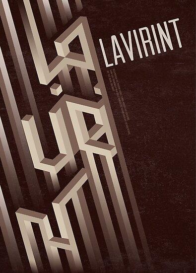 Lavirint (labyrinth) poster by Mina Marković