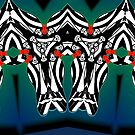 """""""The Animals Came Four by Four"""" 2010 by L. R. Emerson II from the Upside-Down Art Movement; Upsidedownism, Topsy Turvy Art, Ambigram Art, or Masg Art  by L R Emerson II"""