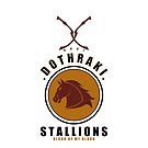 Dothraki Sports Badge iPhone Case by liquidsouldes