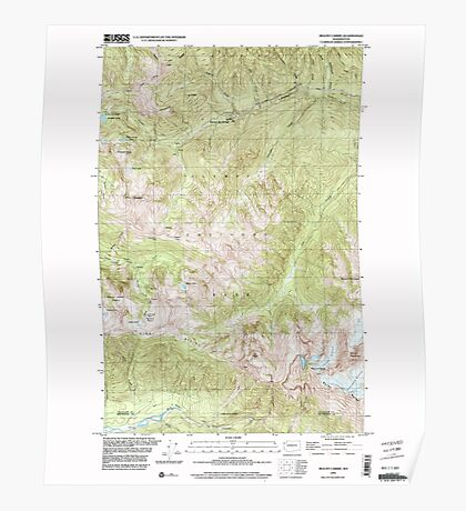 USGS Topo Map Washington State WA Mount Carrie 242483 1999 24000 Poster