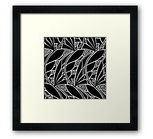 Modern art nouveau tessellations black and white Framed Print