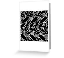Modern art nouveau tessellations black and white Greeting Card
