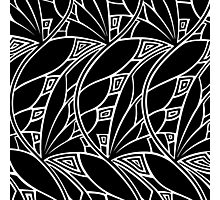 Modern art nouveau tessellations black and white Photographic Print