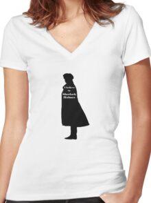 I Believe In Sherlock Holmes Women's Fitted V-Neck T-Shirt
