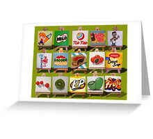 Kiwiana Food and Drink icons Greeting Card