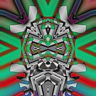 """""""Beyond da Vinci, an Ode to Gustave Verbeek"""" 2010 by Upside-Down Artist L. R. Emerson II from the Topsy Turvy Art or Upsidedownism, Masg Art or Upside-Down Art series: Twisted, Tangled and Tinted. by L R Emerson II"""