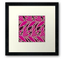 Modern art nouveau tessellations cerise and amber Framed Print