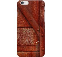 Rust Red Industrial Rivets iPhone Case/Skin