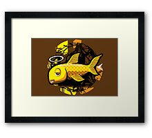 OG Fish - Abstract 4 Color Framed Print
