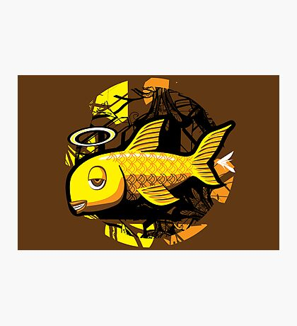 OG Fish - Abstract 4 Color Photographic Print