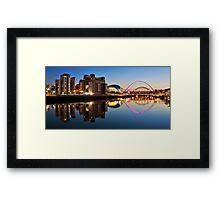 River Tyne Panorama Framed Print