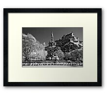 Edinburgh Castle & The Ross Fountain ( Please View Larger) Framed Print