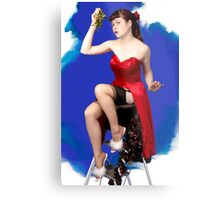 UK Pin Up Stephanie Jay Mistletoe Surprise Metal Print