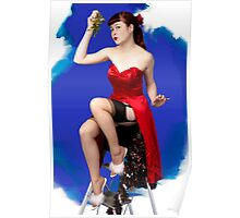 UK Pin Up Stephanie Jay Mistletoe Surprise Poster