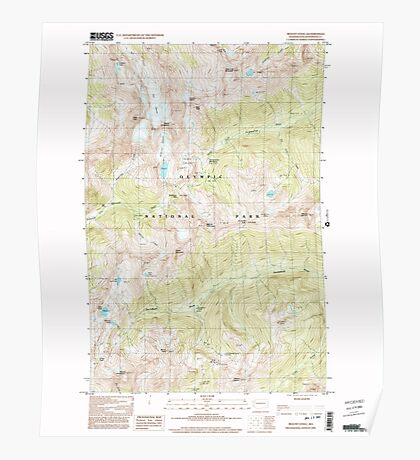 USGS Topo Map Washington State WA Mount Steel 242554 1999 24000 Poster