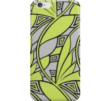 Modern art nouveau tessellations green and gray iPhone Case/Skin