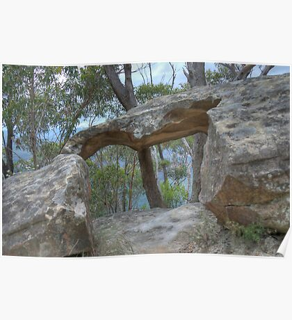 Nature's Sandstone Wonders, Blackheath, Blue Mountains, NSW Poster