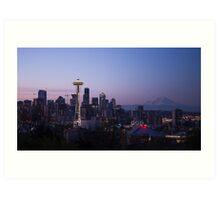 Beautiful Emerald City Seattle Space Needle Art Print