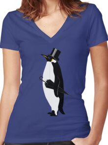 A Well Dressed Villain Women's Fitted V-Neck T-Shirt