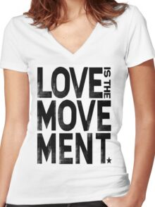 Love Is The Movement Women's Fitted V-Neck T-Shirt