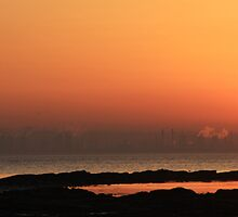 Industrial Sunset, Grangemouth, Scotland by ScotLandscapes
