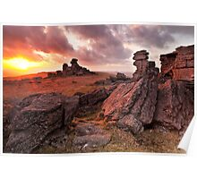 Sunset on Great Staple Tor Poster