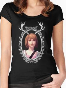 Max Portrait (Transparent) - Life is Strange Women's Fitted Scoop T-Shirt