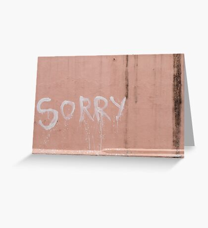 Sorry in Pondicherry Greeting Card