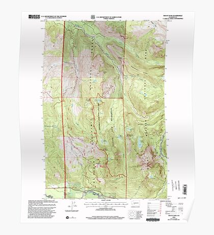 USGS Topo Map Washington State WA Mount Wow 242599 2000 24000 Poster