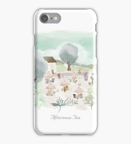 Afternoon Tea (with title) iPhone Case/Skin