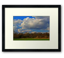 March Afternoon along the Teesdale Way Trail Framed Print