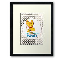 I Only Bite When I'm Hungry Framed Print