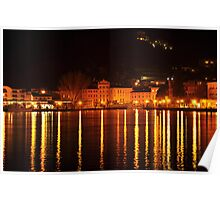 Riva del Garda at Night  Poster