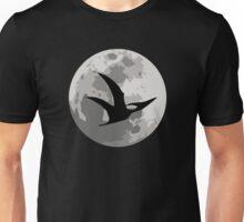 Dinosaur Moon Silhouette - Pterodactyl Unisex T-Shirt