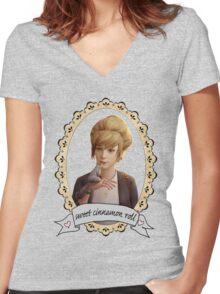 Kate Portrait (Transparent) - Life is Strange Women's Fitted V-Neck T-Shirt