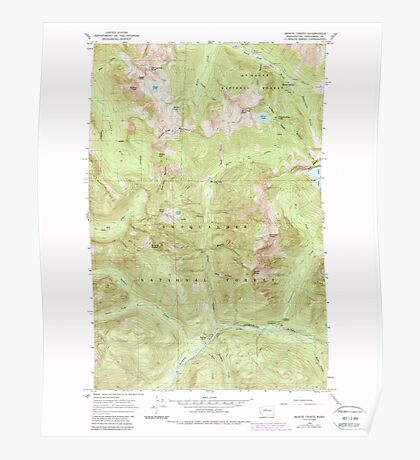 USGS Topo Map Washington State WA Monte Cristo 242383 1965 24000 Poster