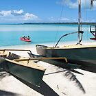 yacht on the beach by Anne Scantlebury