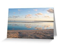 clouds, reflection and sand Greeting Card