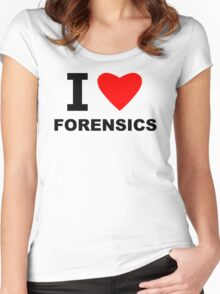 I Love Forensics Women's Fitted Scoop T-Shirt