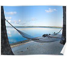 hammock between trees Poster