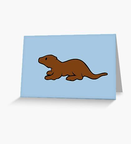 Cute Otter Greeting Card