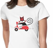 Hellcat loves his Vespa Womens Fitted T-Shirt