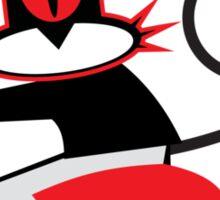 Hellcat loves his Vespa Sticker